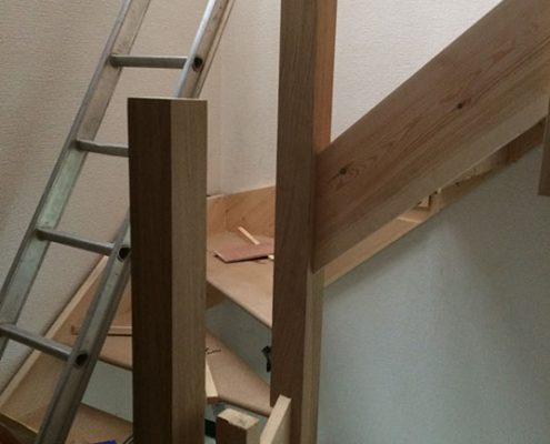hip gable loft conversion staircase