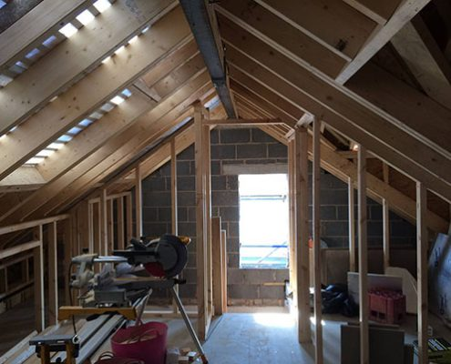Hip To Gable Loft Conversion Truss Roofing Building