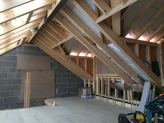 hip gable loft conversion truss roofing