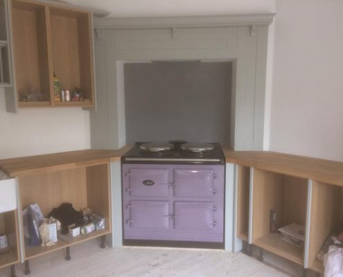 painted kitchen and aga oven