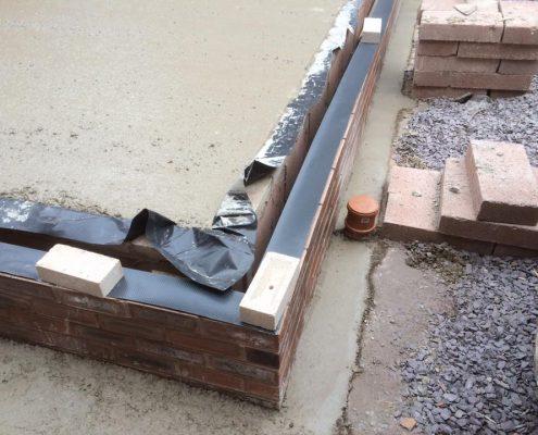 Extension footings in Lytham