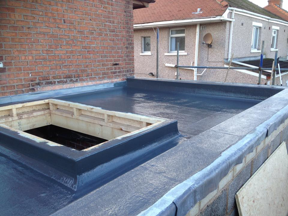extension with parapet wall and sky lantern 04 - Building