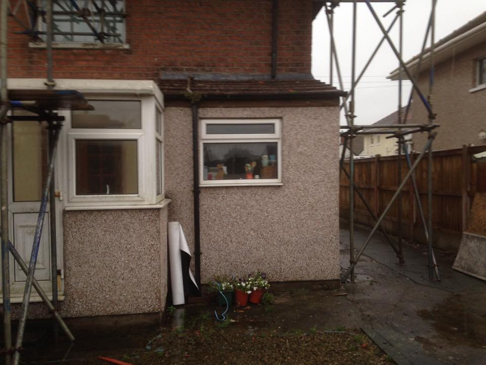 extension with parapet wall and sky lantern 02 - Building