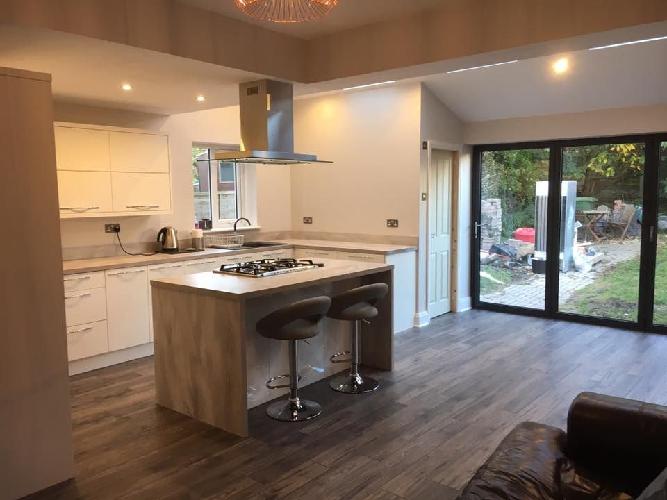 Kitchen Extension With Aluminium Bi Fold Doors 07 Building And Joinery Contractors Fleetwood