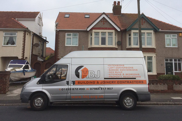 HBJ building and joinery contractors van image